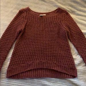 Roxy Maroon Knit Sweater